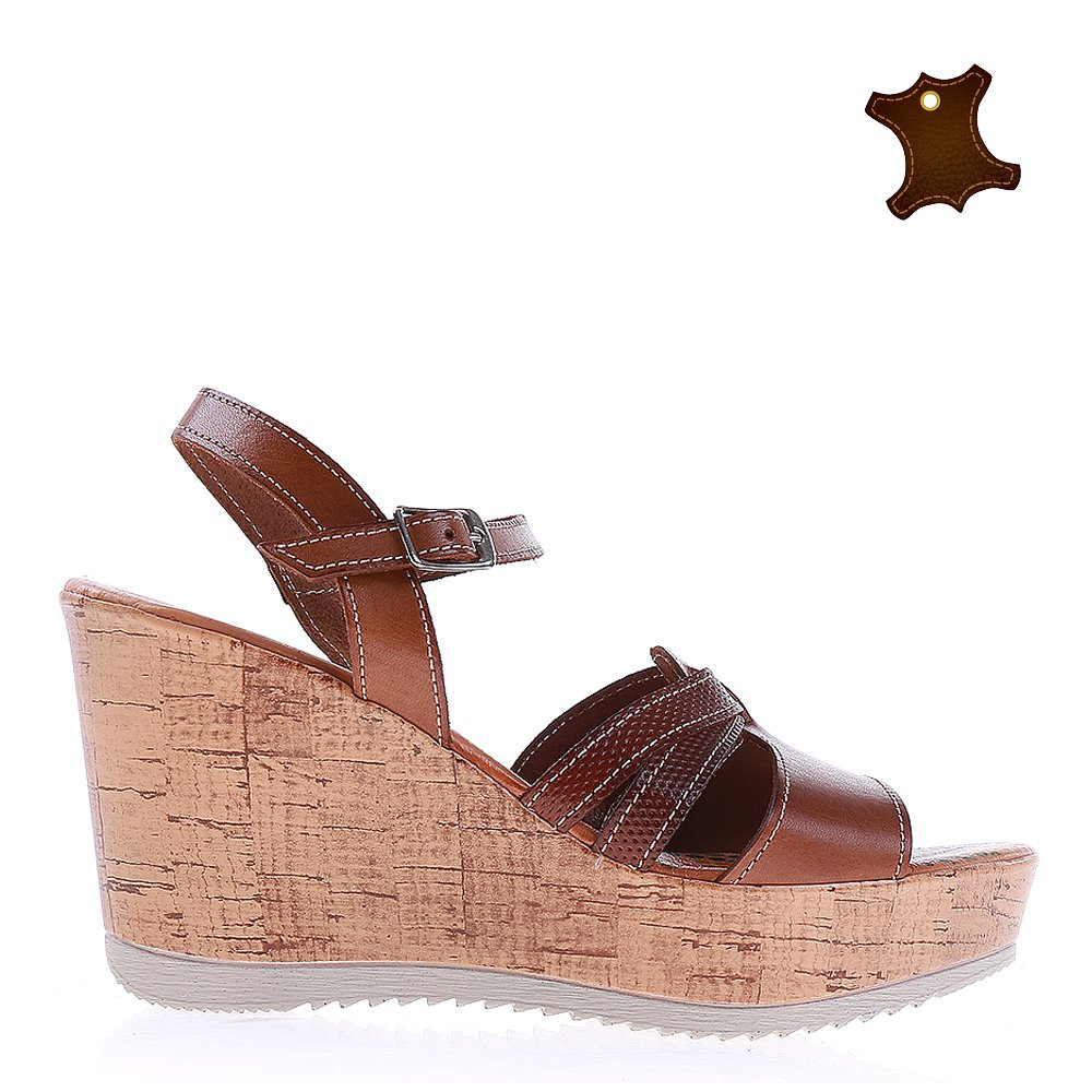 Sandale dama piele Bella maro