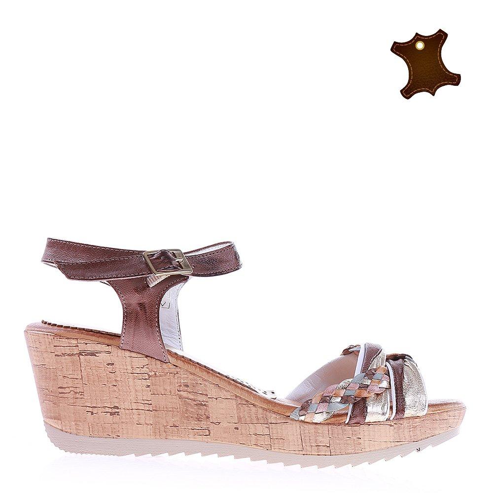 Sandale dama piele Margie maro