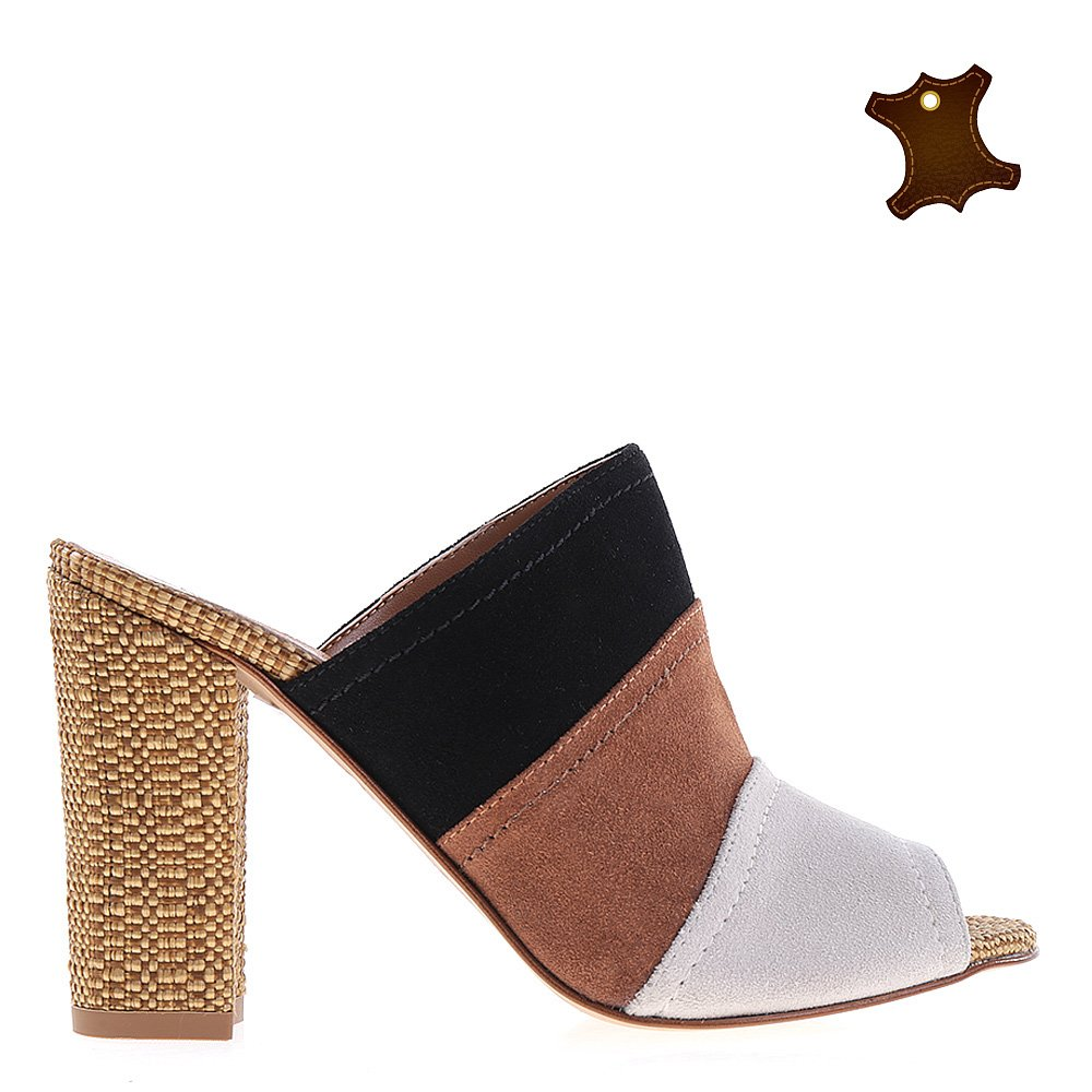 Sandale dama piele Trudy gri