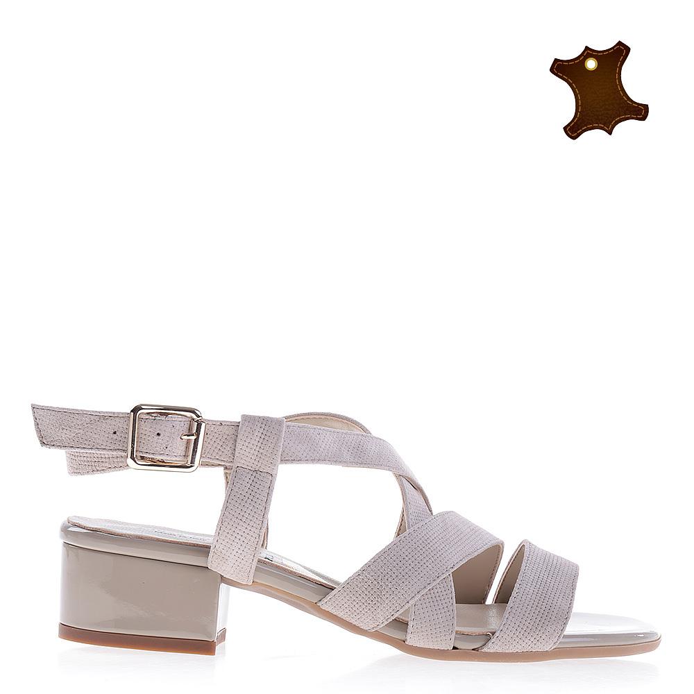 Sandale Dama Piele Anya Bej