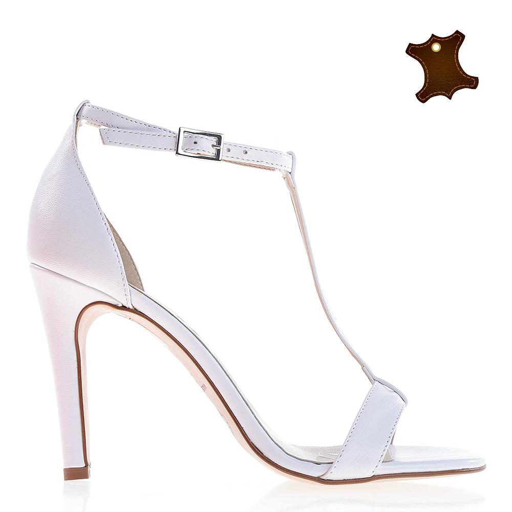 Sandale dama piele Tammy albe
