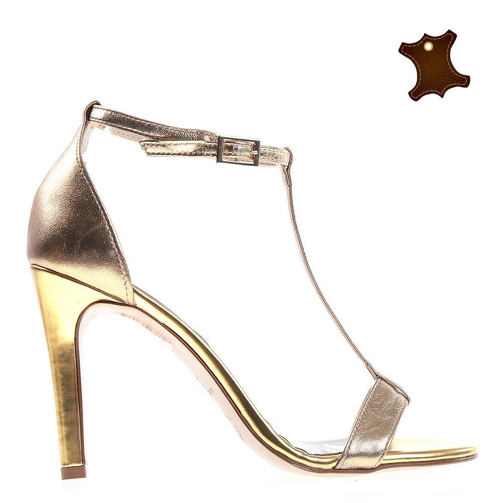 Sandale dama piele Tammy aurii