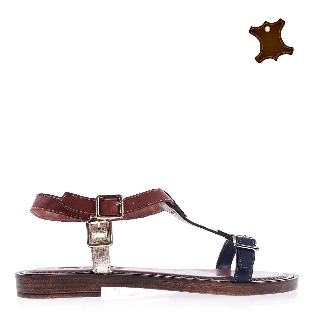 Sandale dama piele Netty maro
