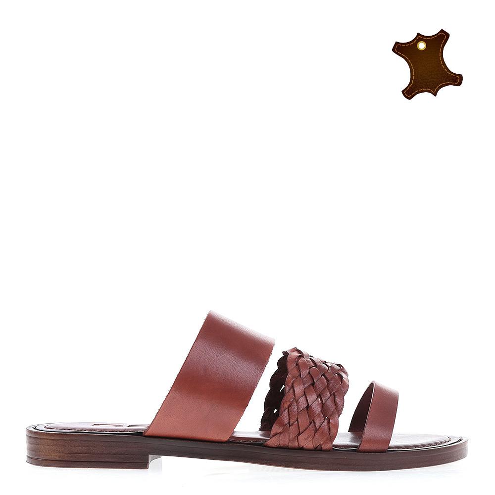 Papuci Dama Piele 2105 Maro