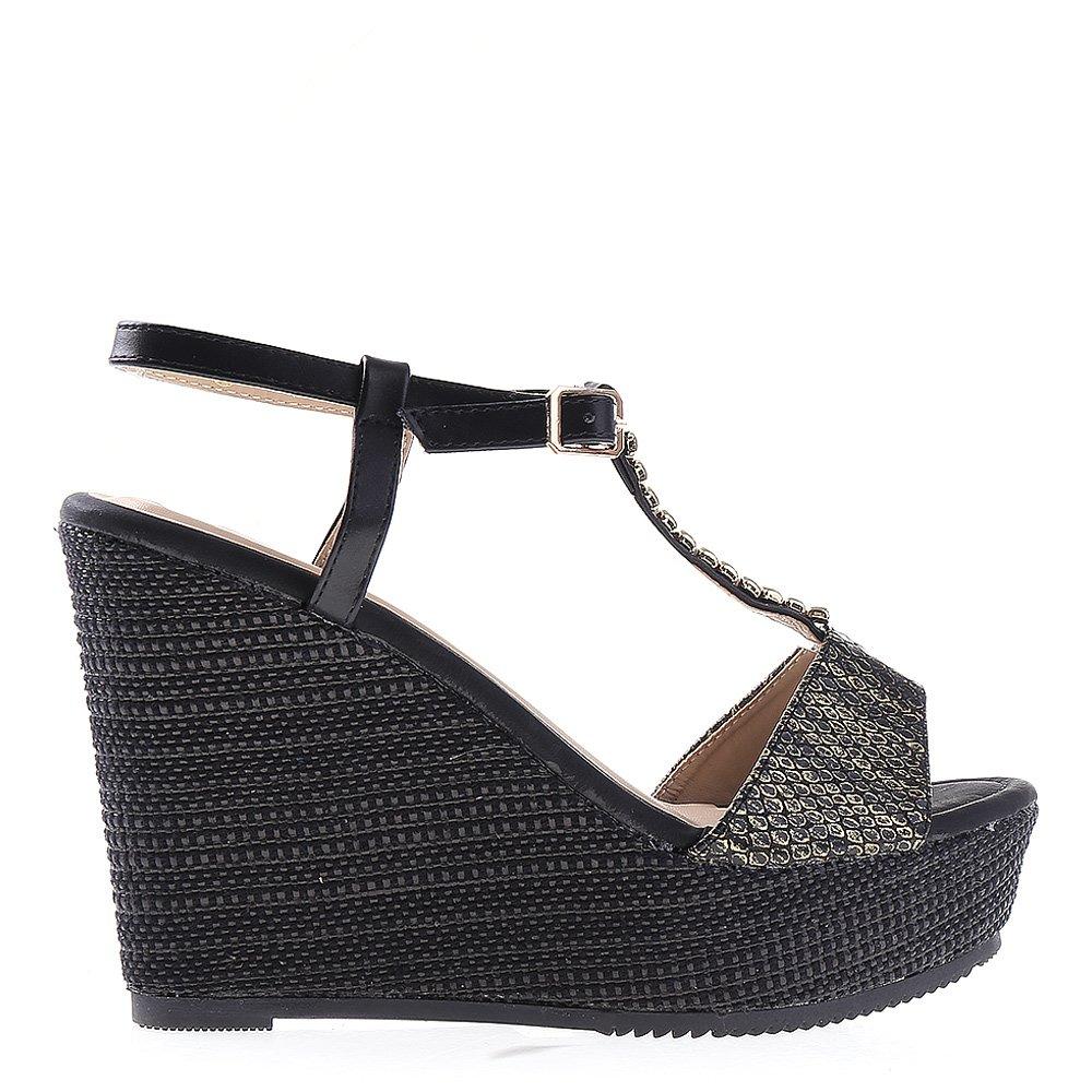 Sandale dama cu platforma Tanisha negre