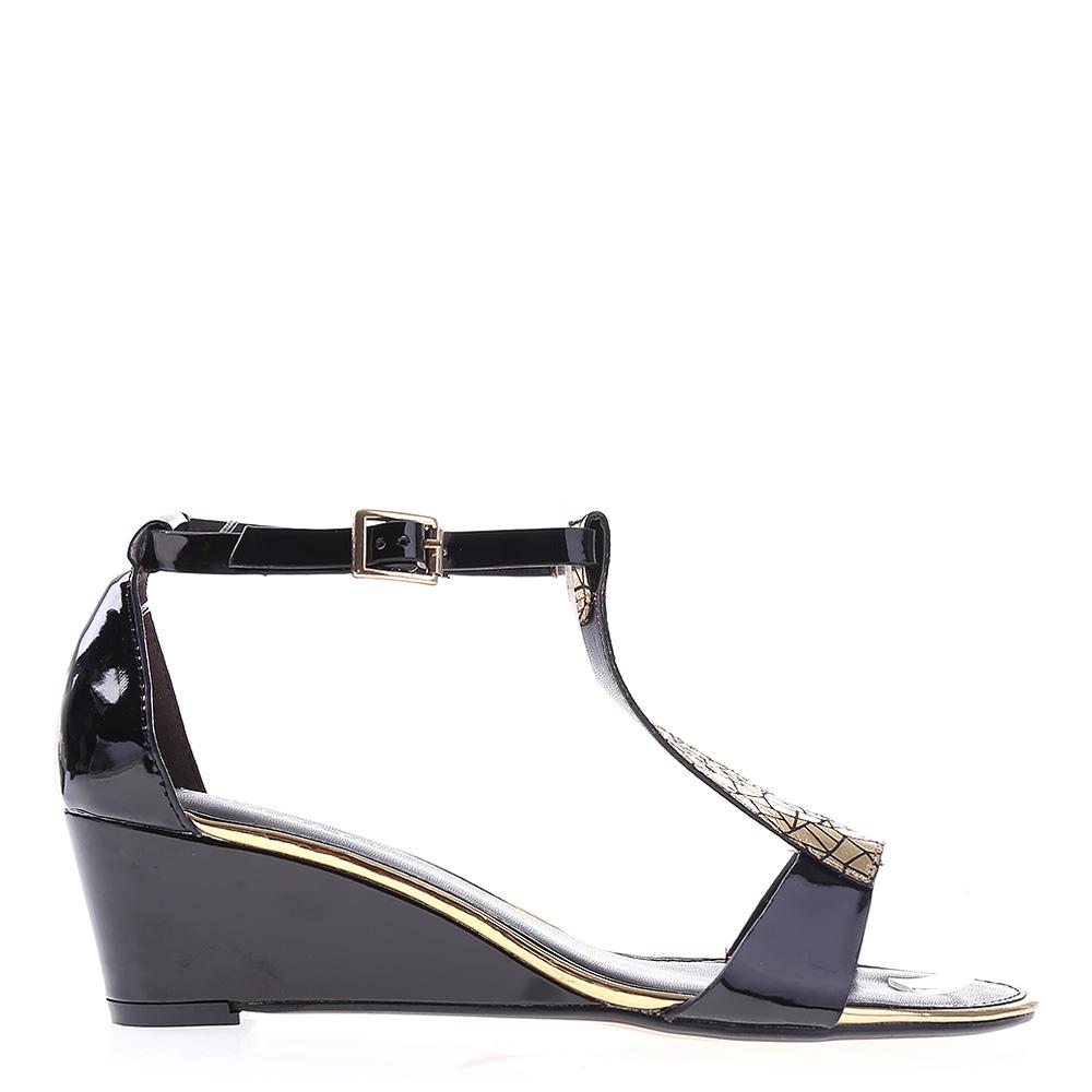 Sandale dama cu platforma Rosella negre