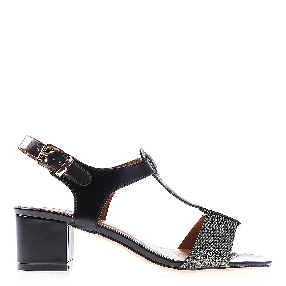 Sandale dama cu toc Tami negre