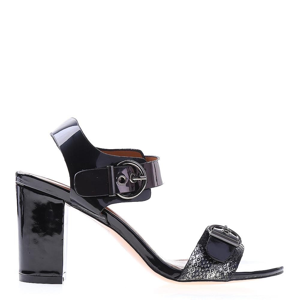 Sandale dama cu toc Gabby negre