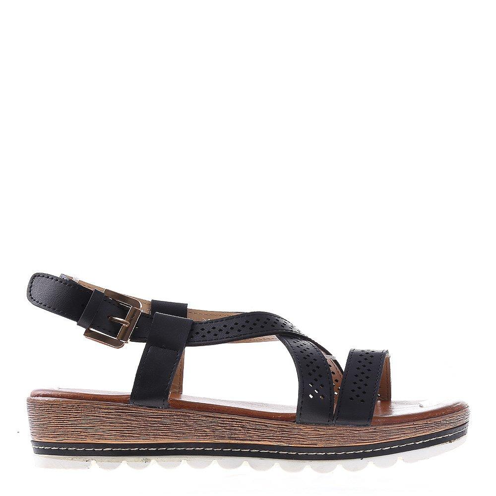 Sandale dama cu platforma Dympa negre