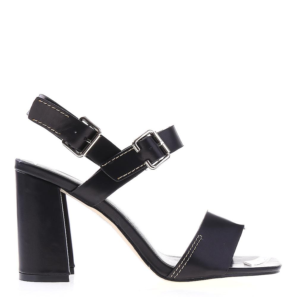 Sandale dama cu toc Tamsin negre