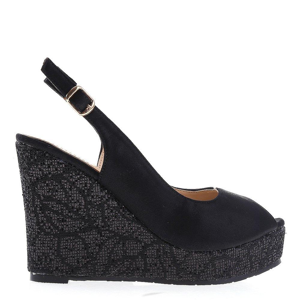 Sandale dama cu platforma Sonja negre