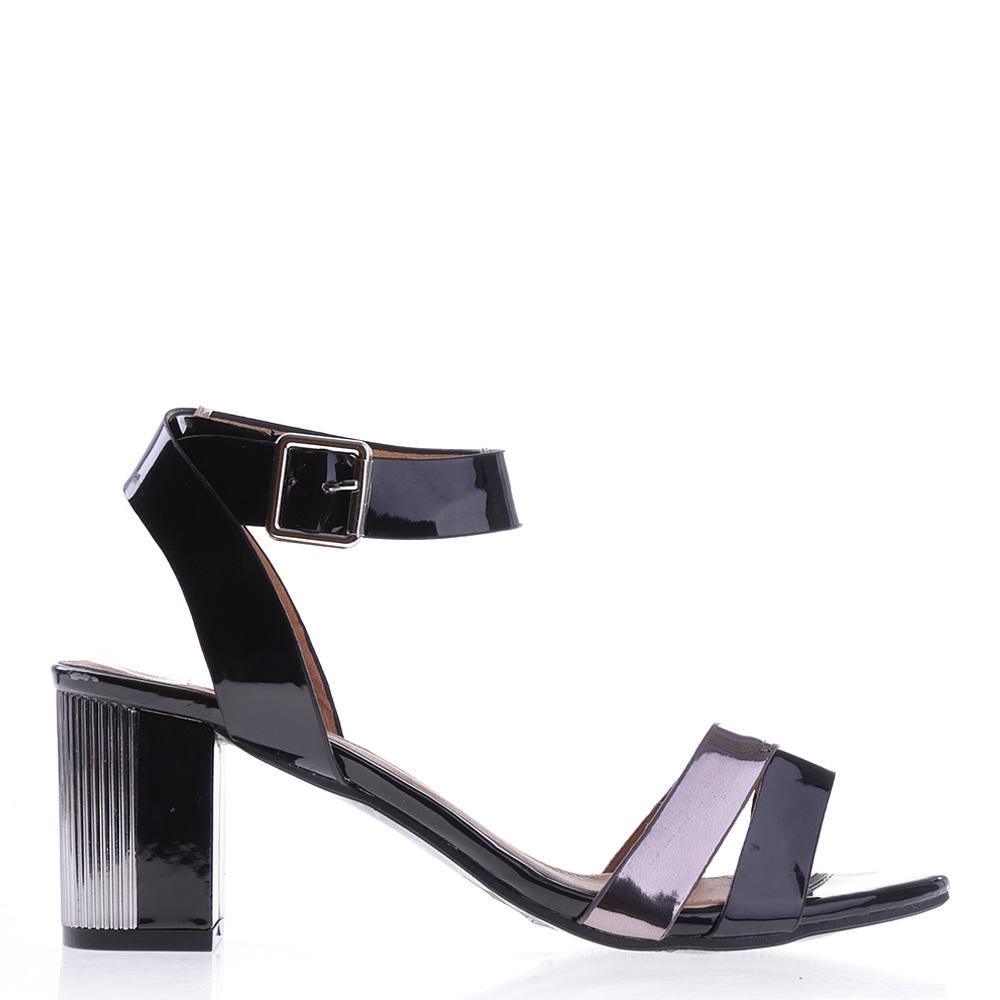 Sandale Dama Cu Toc Pike Negre
