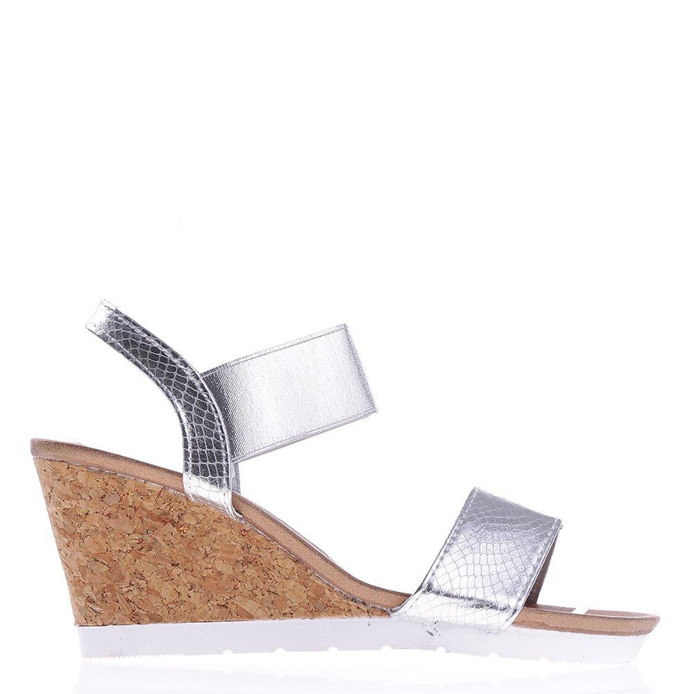 Sandale dama cu platforma Hazel argintii