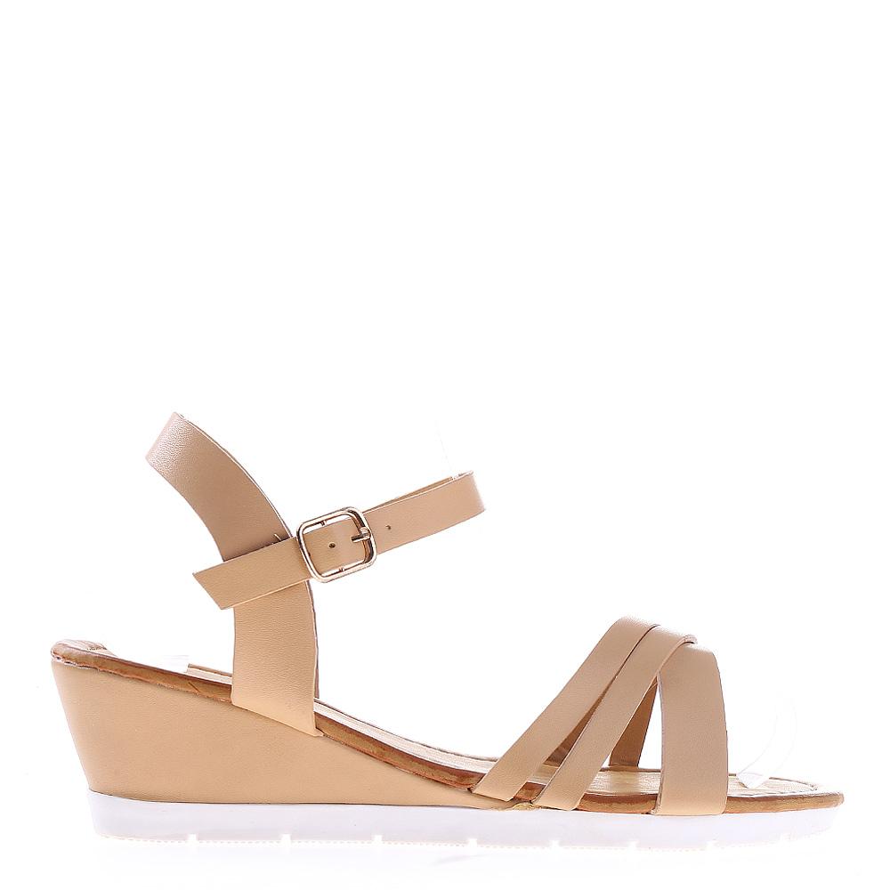Sandale Dama Cu Platforma Dixie Bej