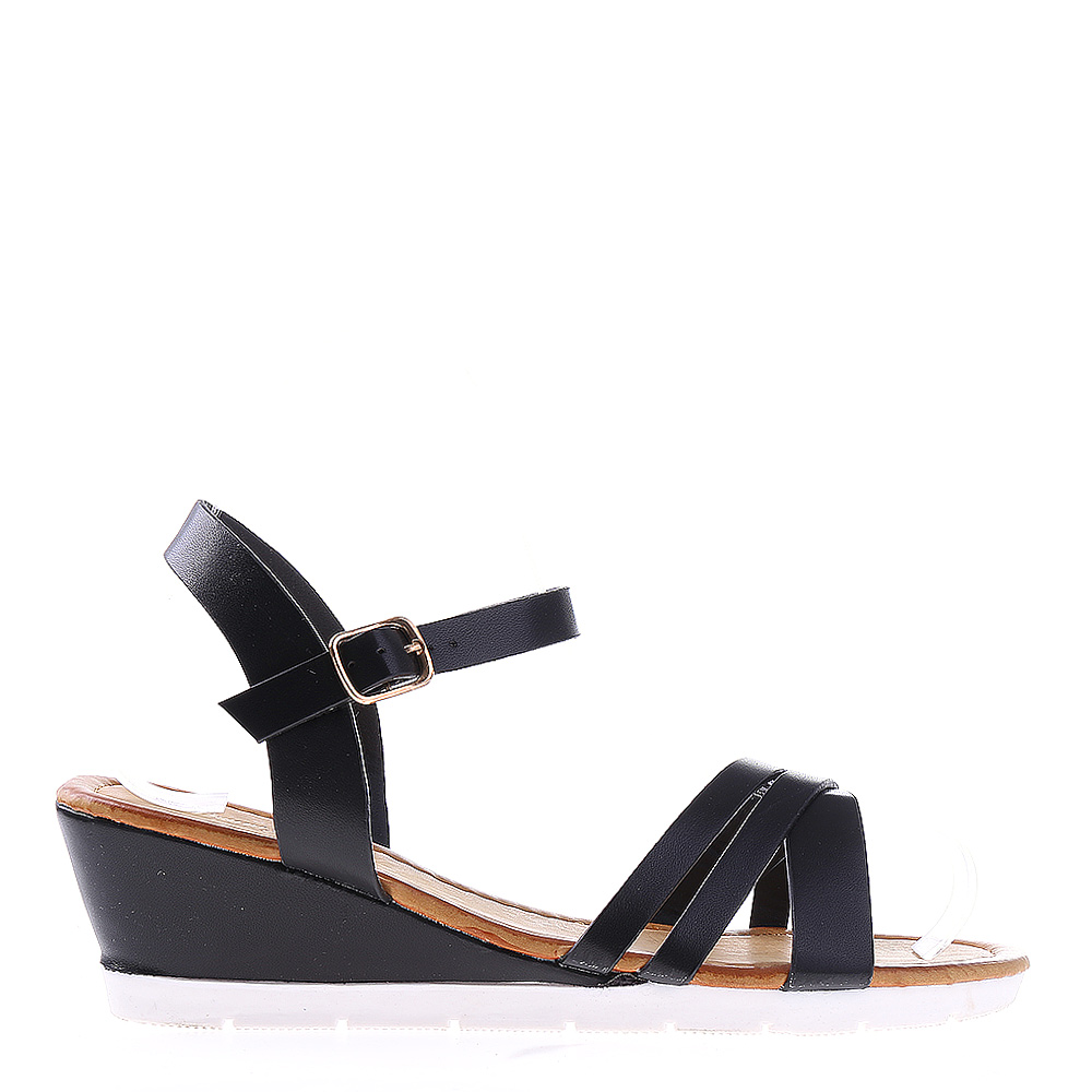 Sandale dama cu platforma Dixie negre