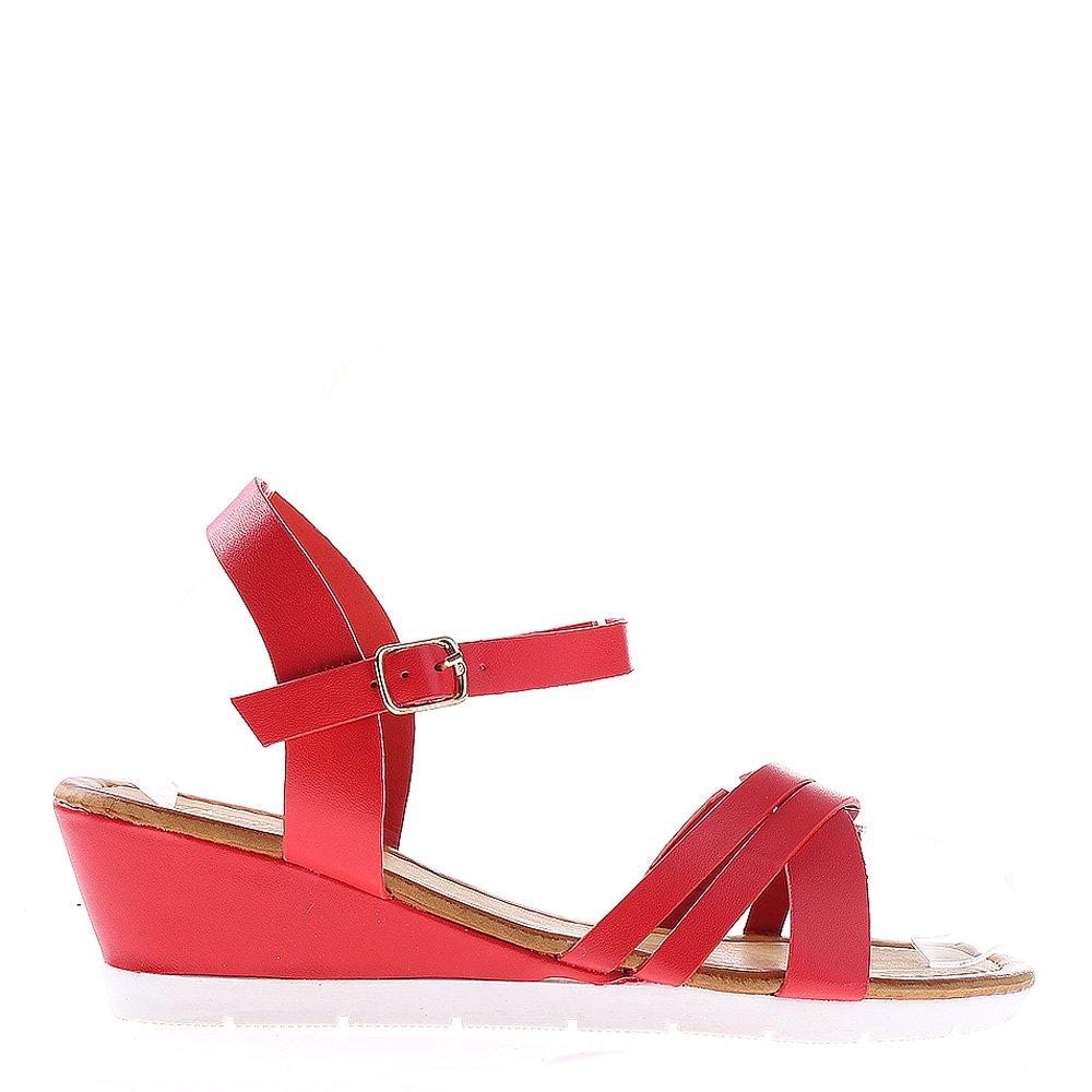 Sandale dama cu platforma Dixie rosii