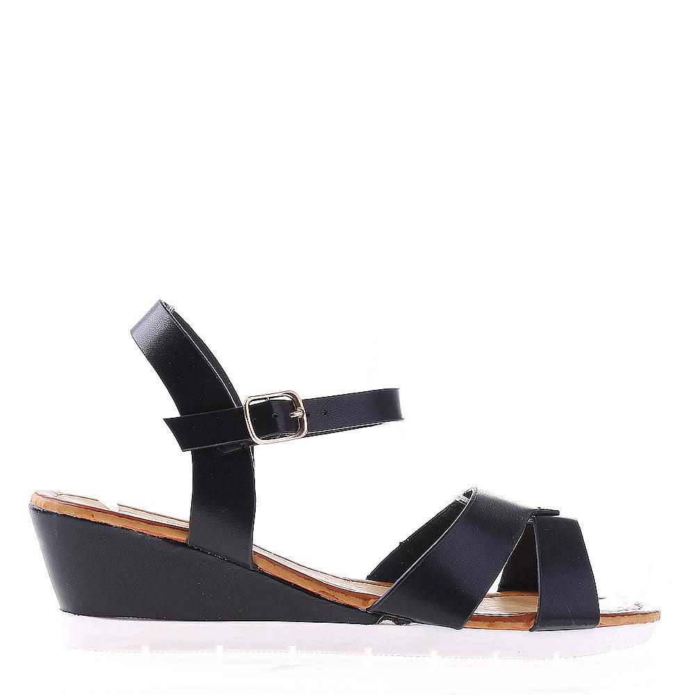 Sandale dama cu platforma Jeraldine negre