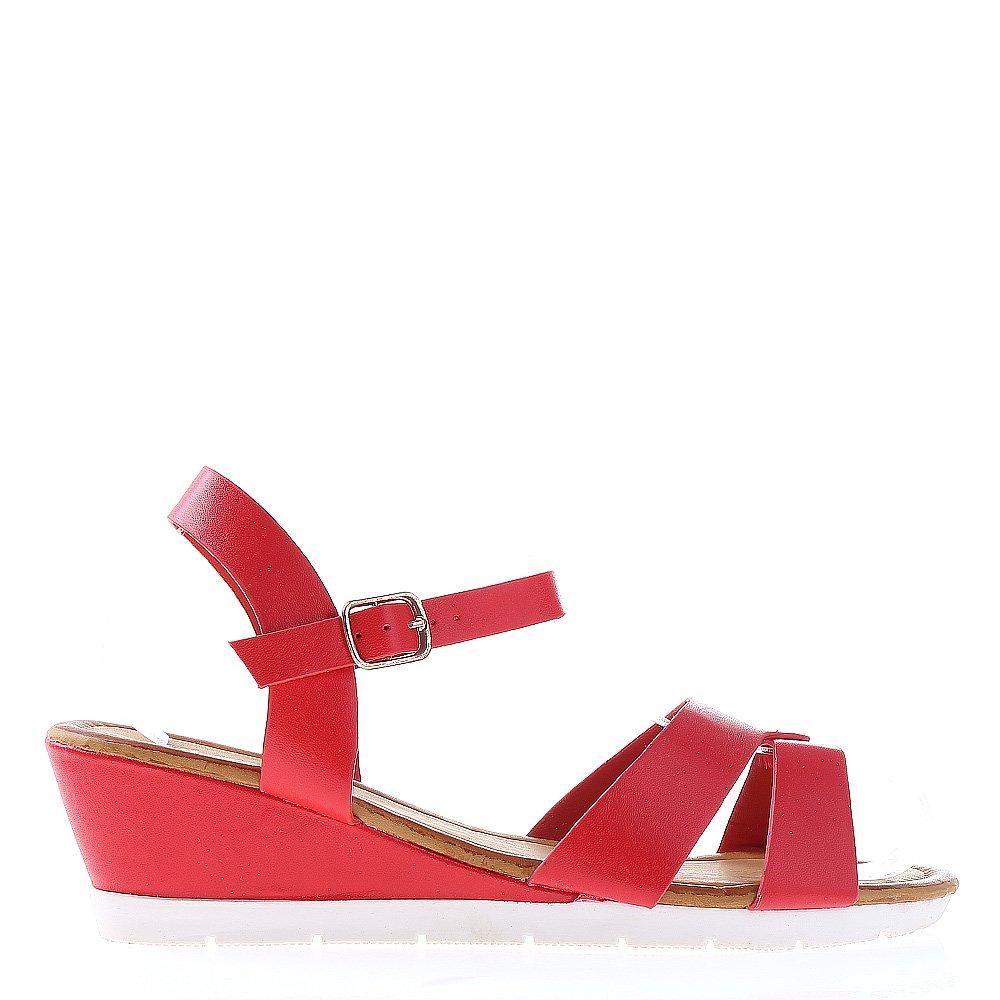 Sandale dama cu platforma Jeraldine rosii