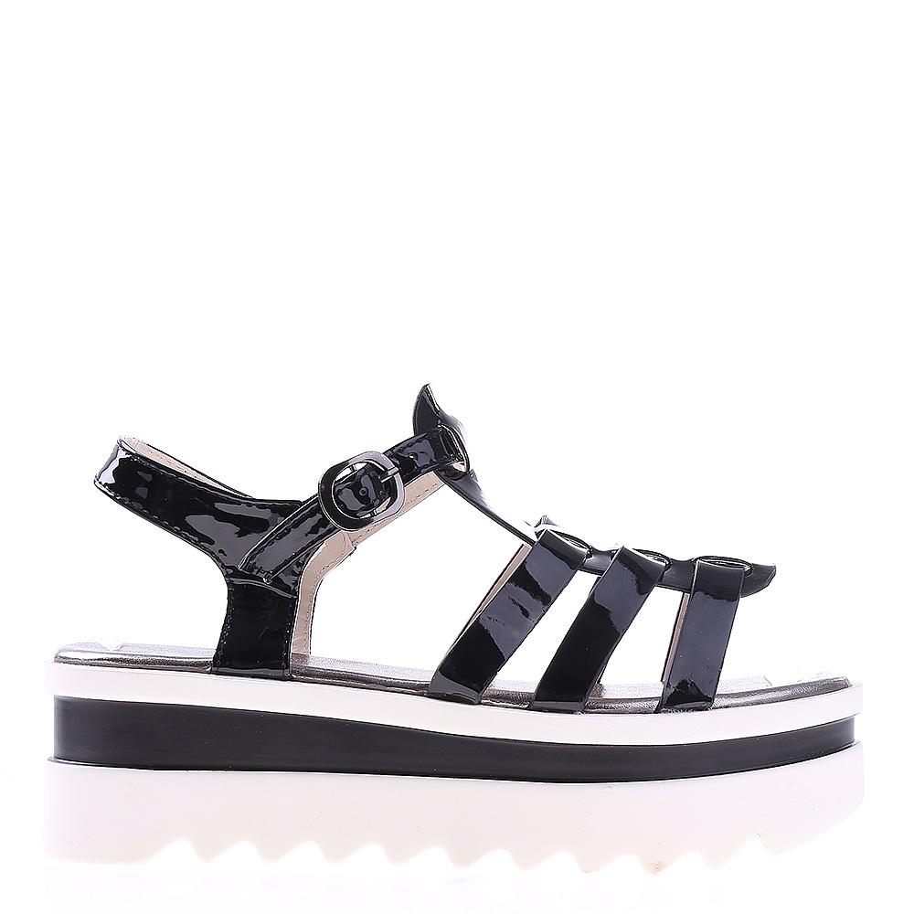 Sandale dama cu platforma Wallis negre