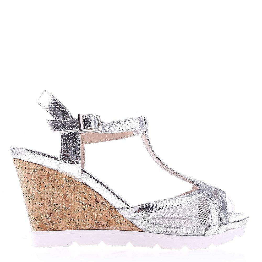 Sandale dama cu platforma Amirah argintii
