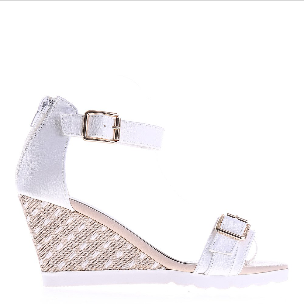 Sandale dama cu platforma Rylee albe
