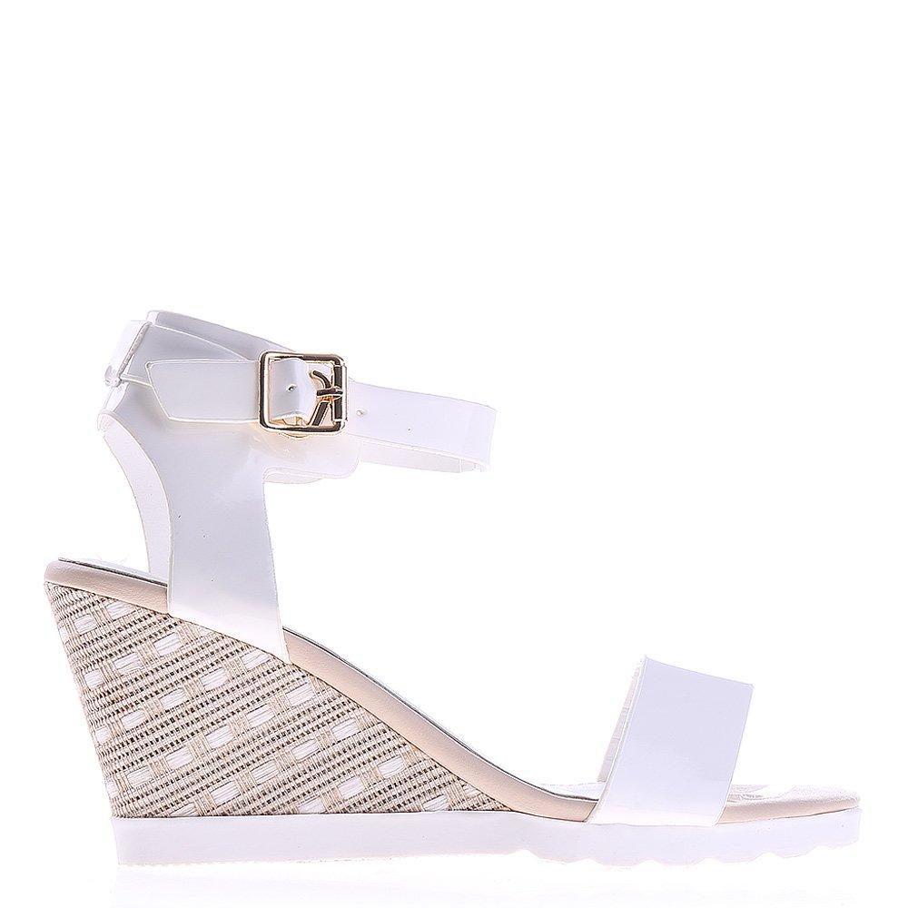 Sandale dama cu platforma Gena albe