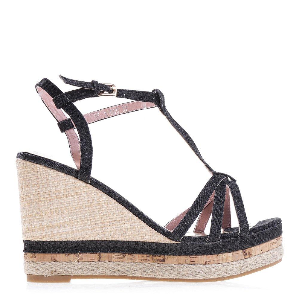 Sandale dama cu platforma Kaja negre
