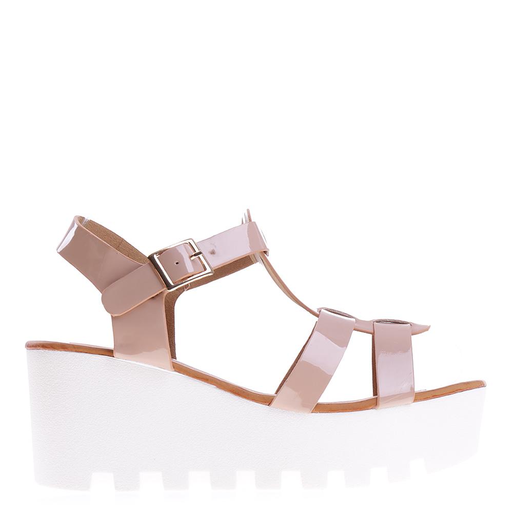 Sandale dama cu platforma Eirean roz