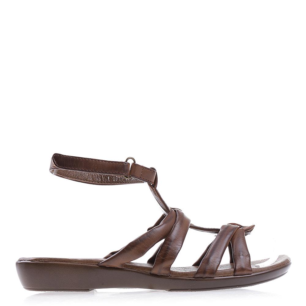 Sandale dama cu platforma Jessica camel