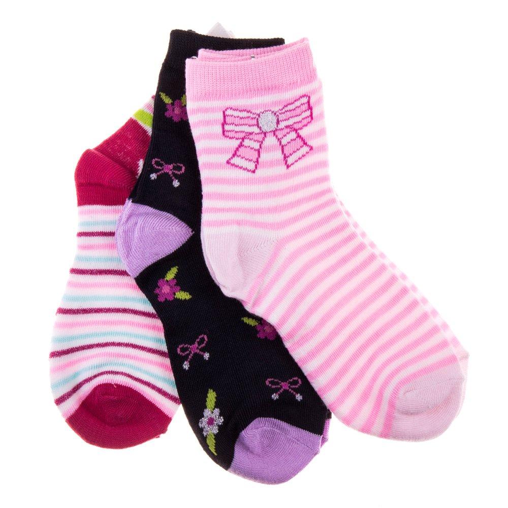 Sosete copii G008 roz, negre si albe