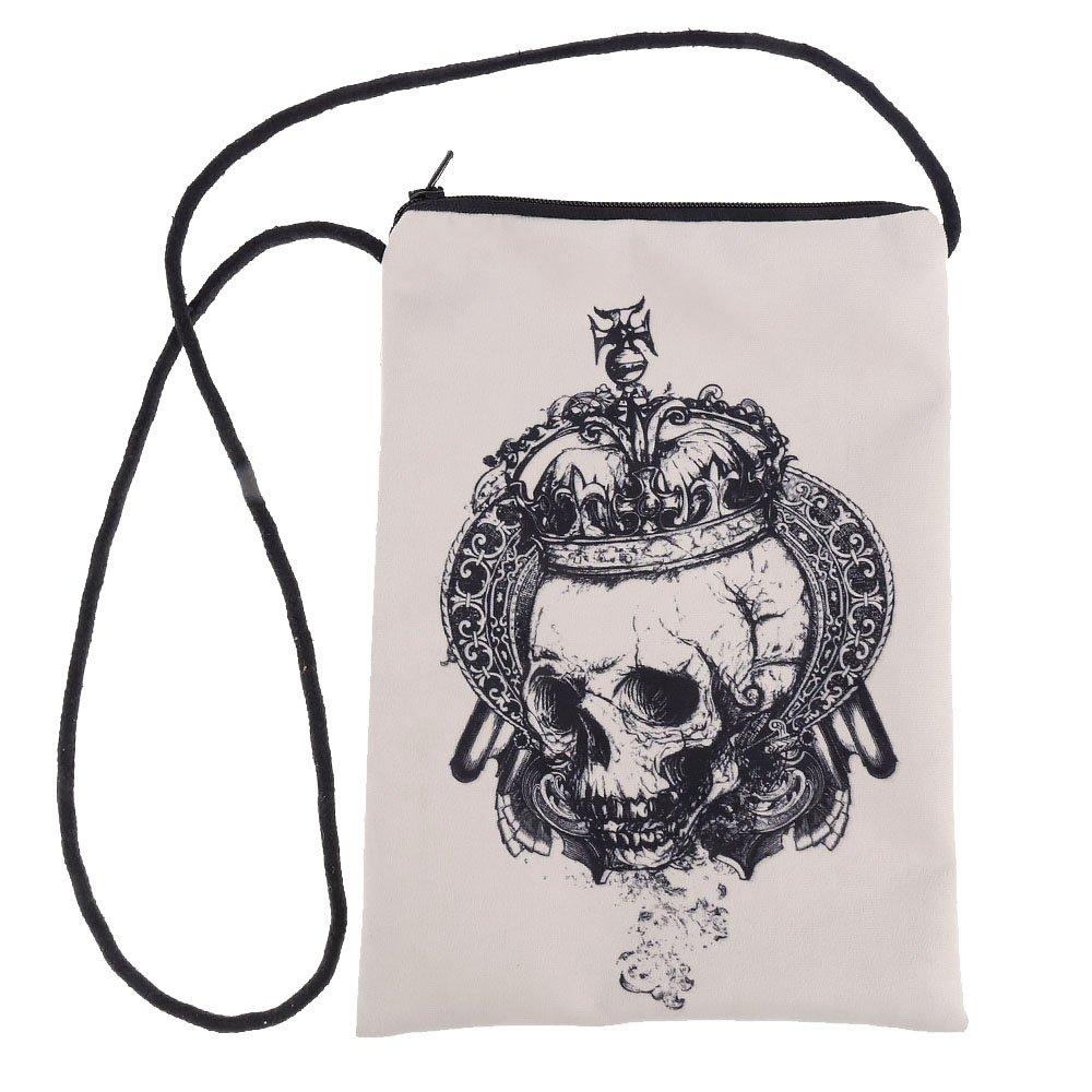 Geanta dama Queen Skull alba