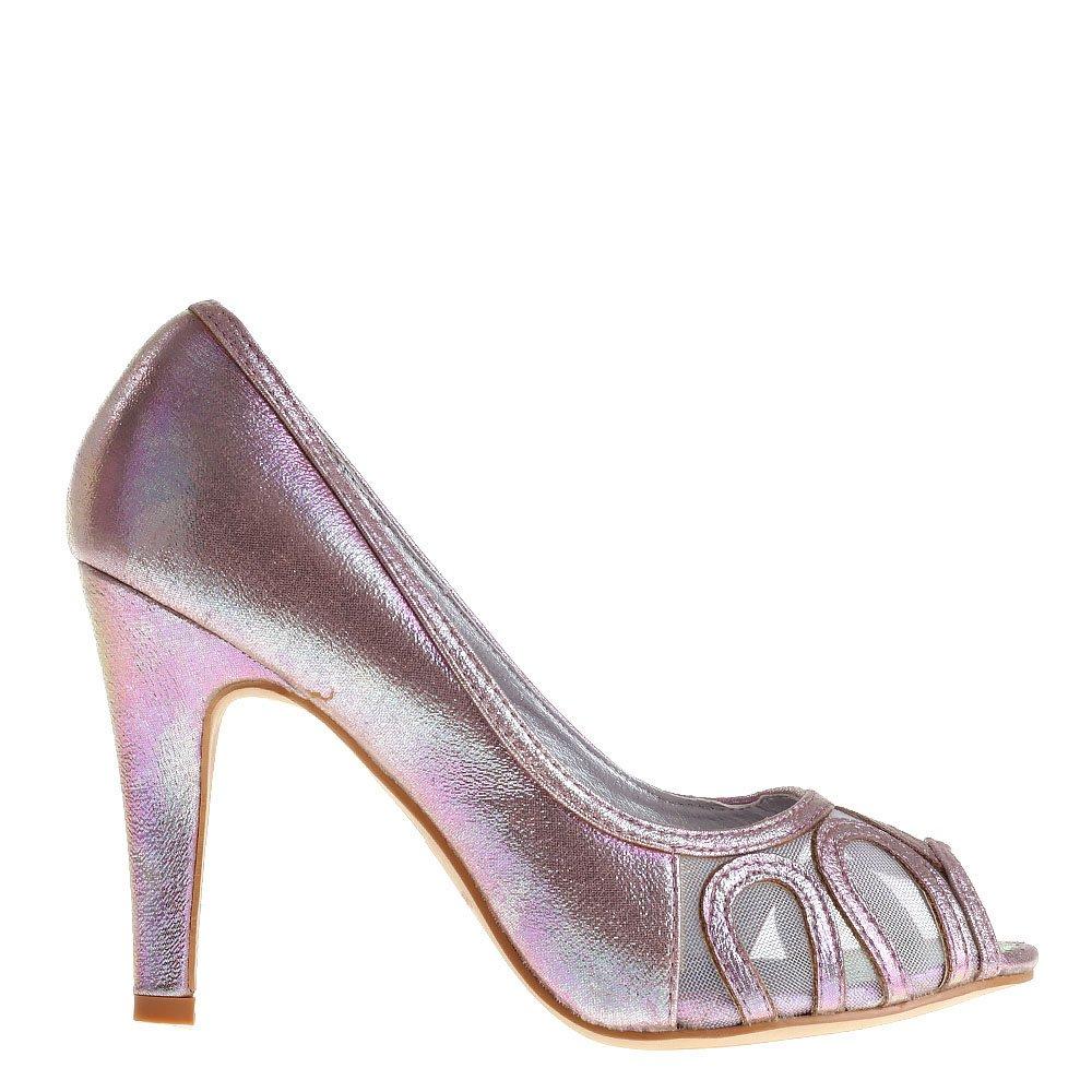 Pantofi dama Eris argintii