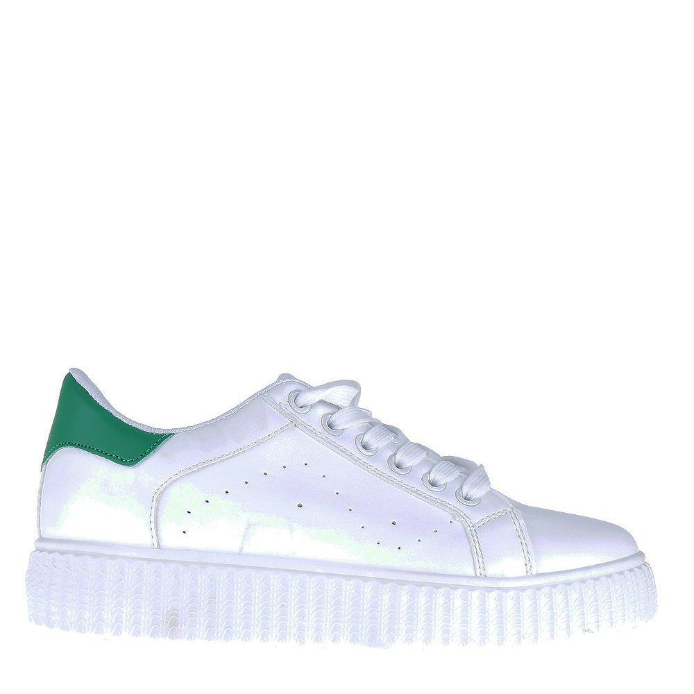 Pantofi sport dama Bradsha albi cu verde