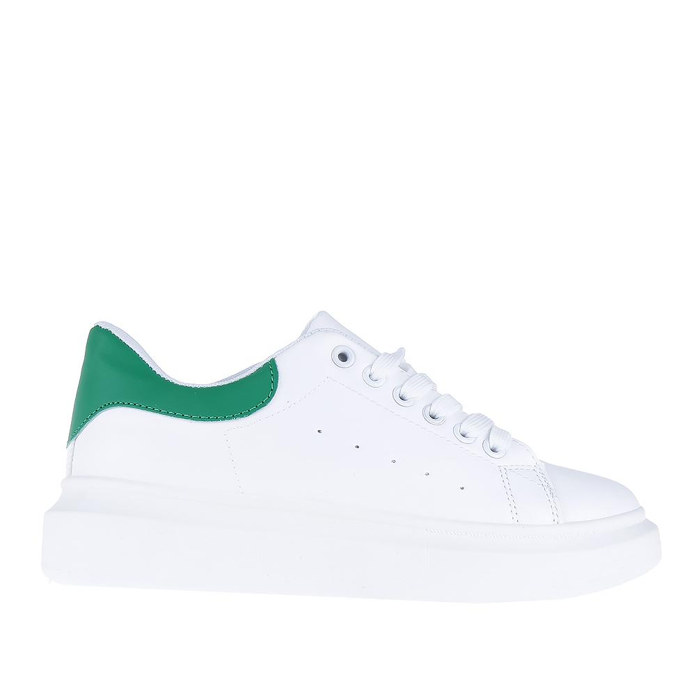 Pantofi sport dama Gober albi cu verde