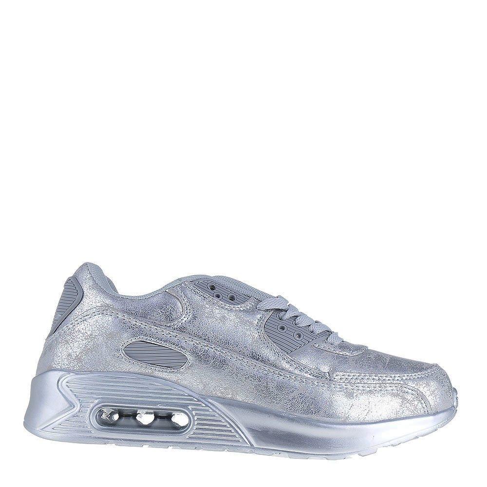 Pantofi sport unisex Wall argintii