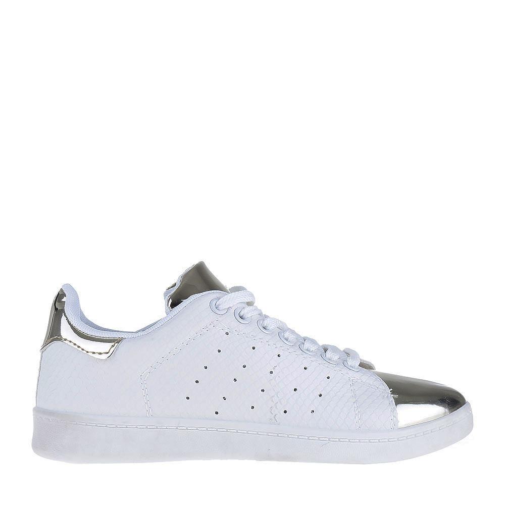 Pantofi sport dama Christy albi cu auriu