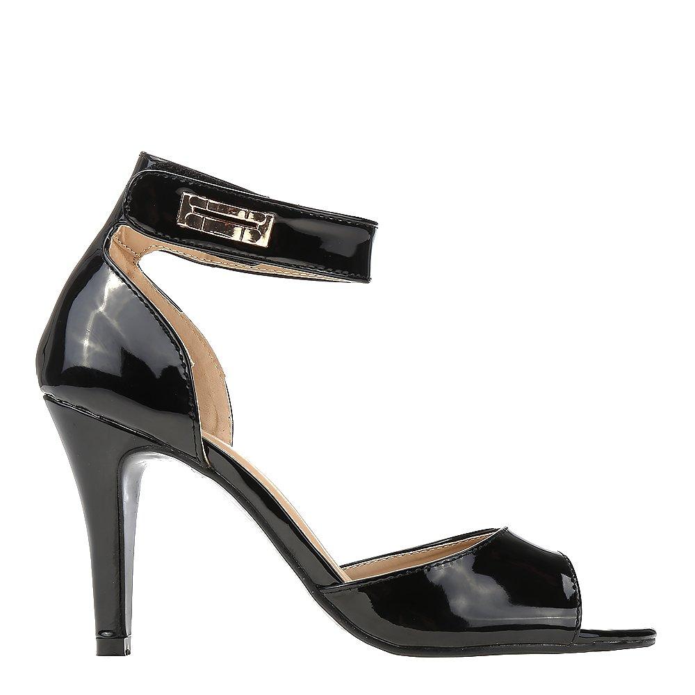 Sandale dama Cristal negre