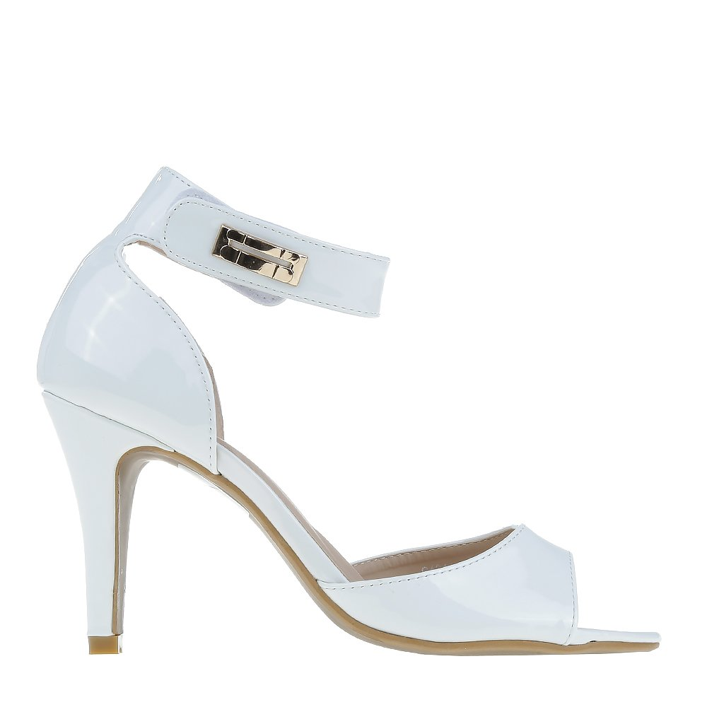 Sandale dama Cristal albe
