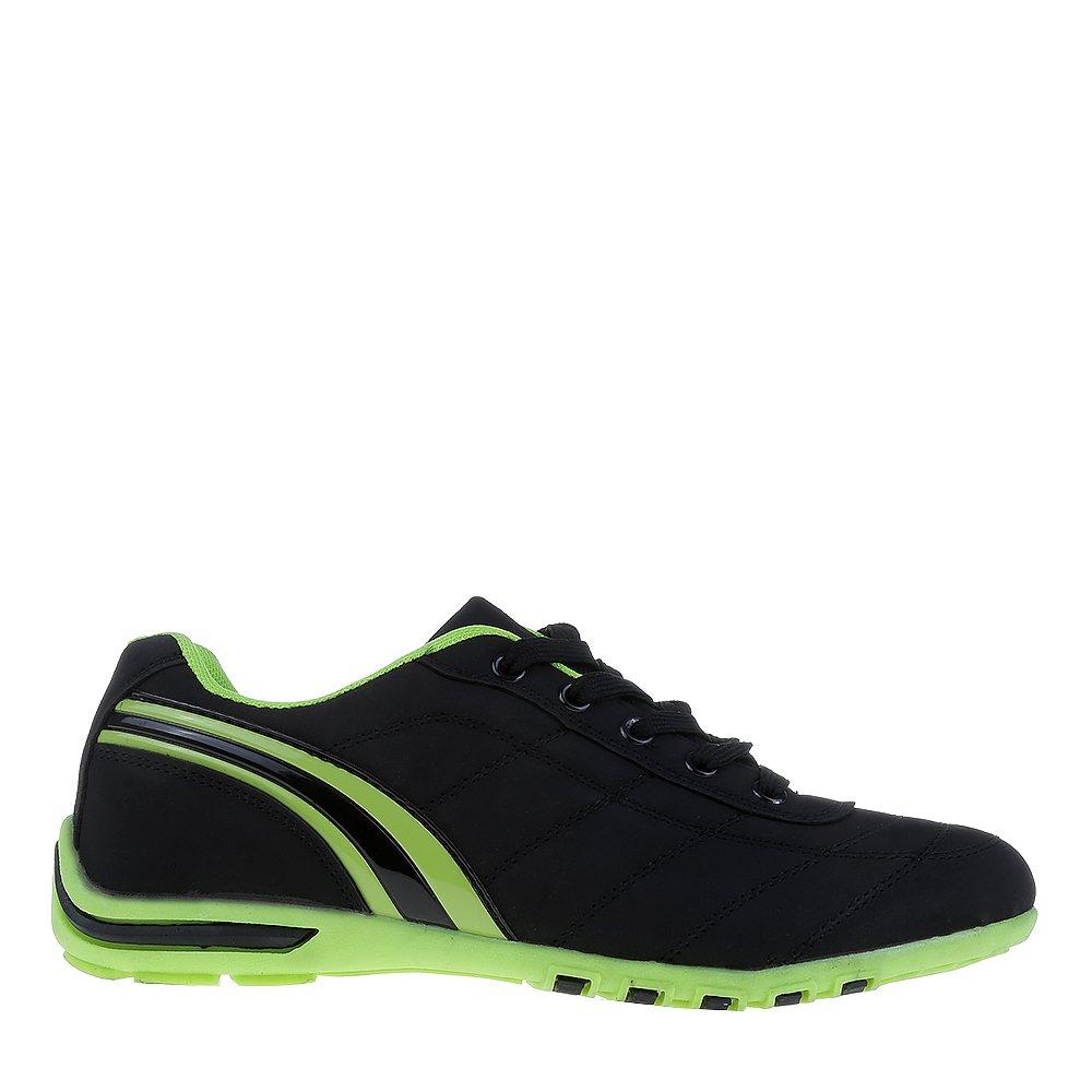 Pantofi sport dama Fabre negri cu verde