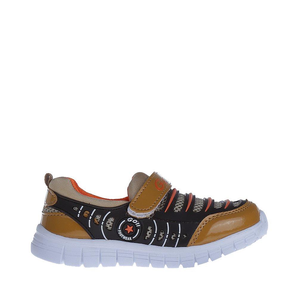 Pantofi sport copii Tedy maro cu bej