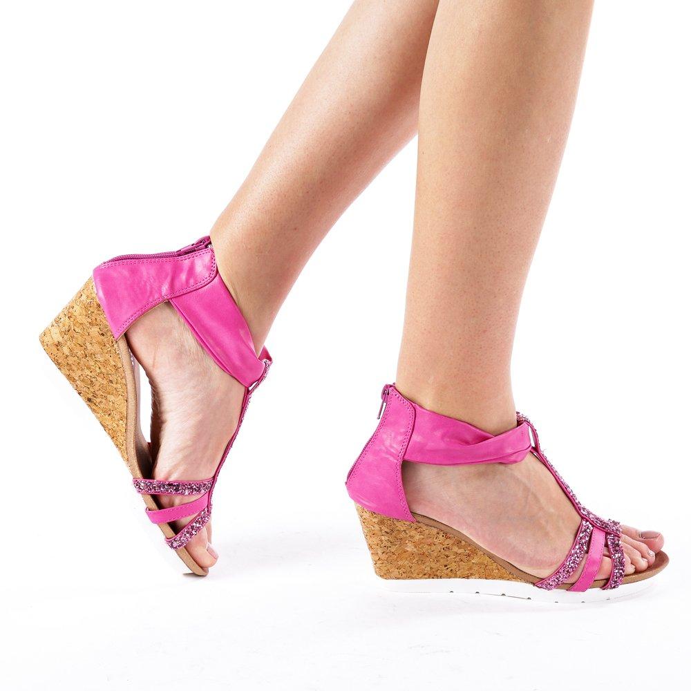 Sandale dama Debo fucsia
