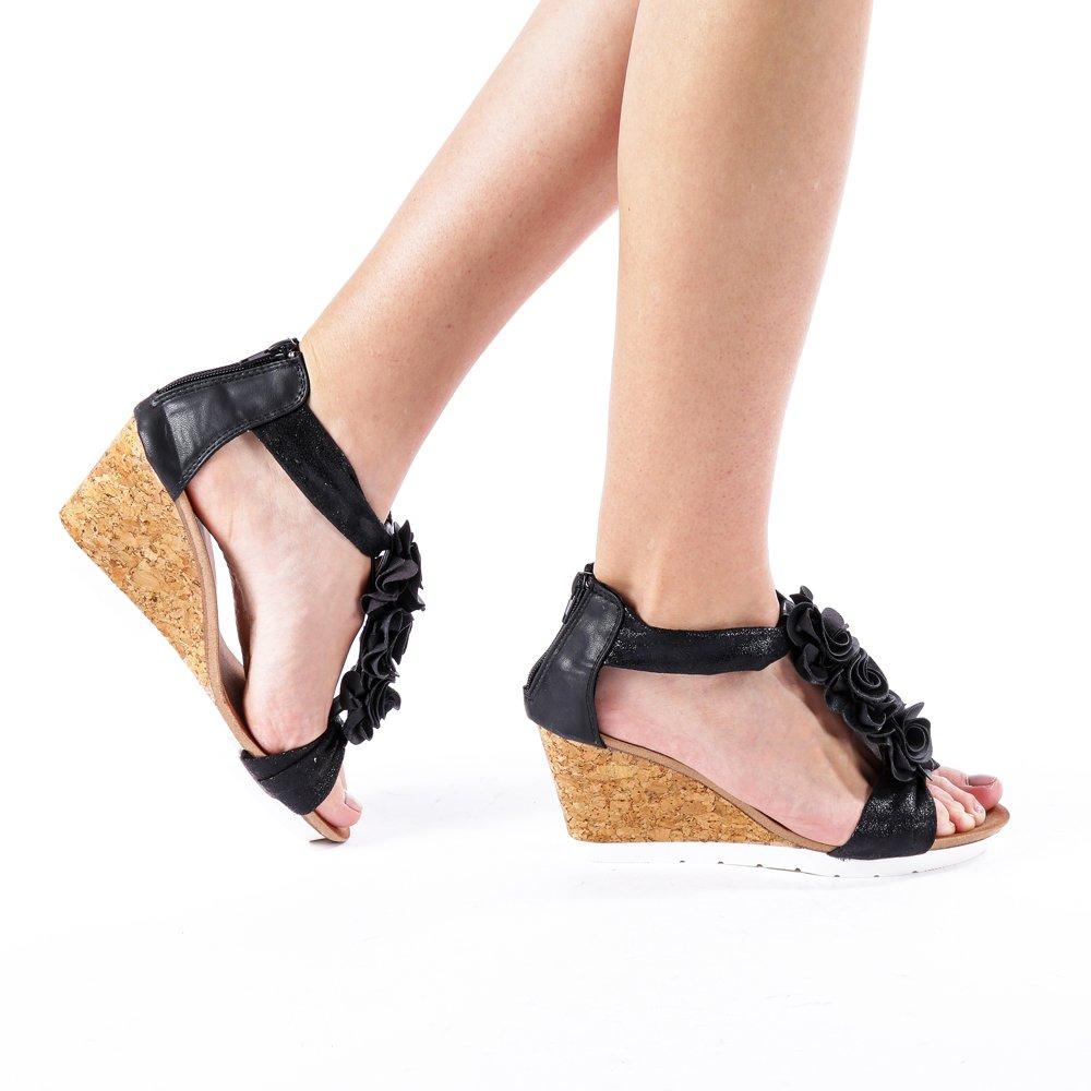 Sandale dama Ruth negre