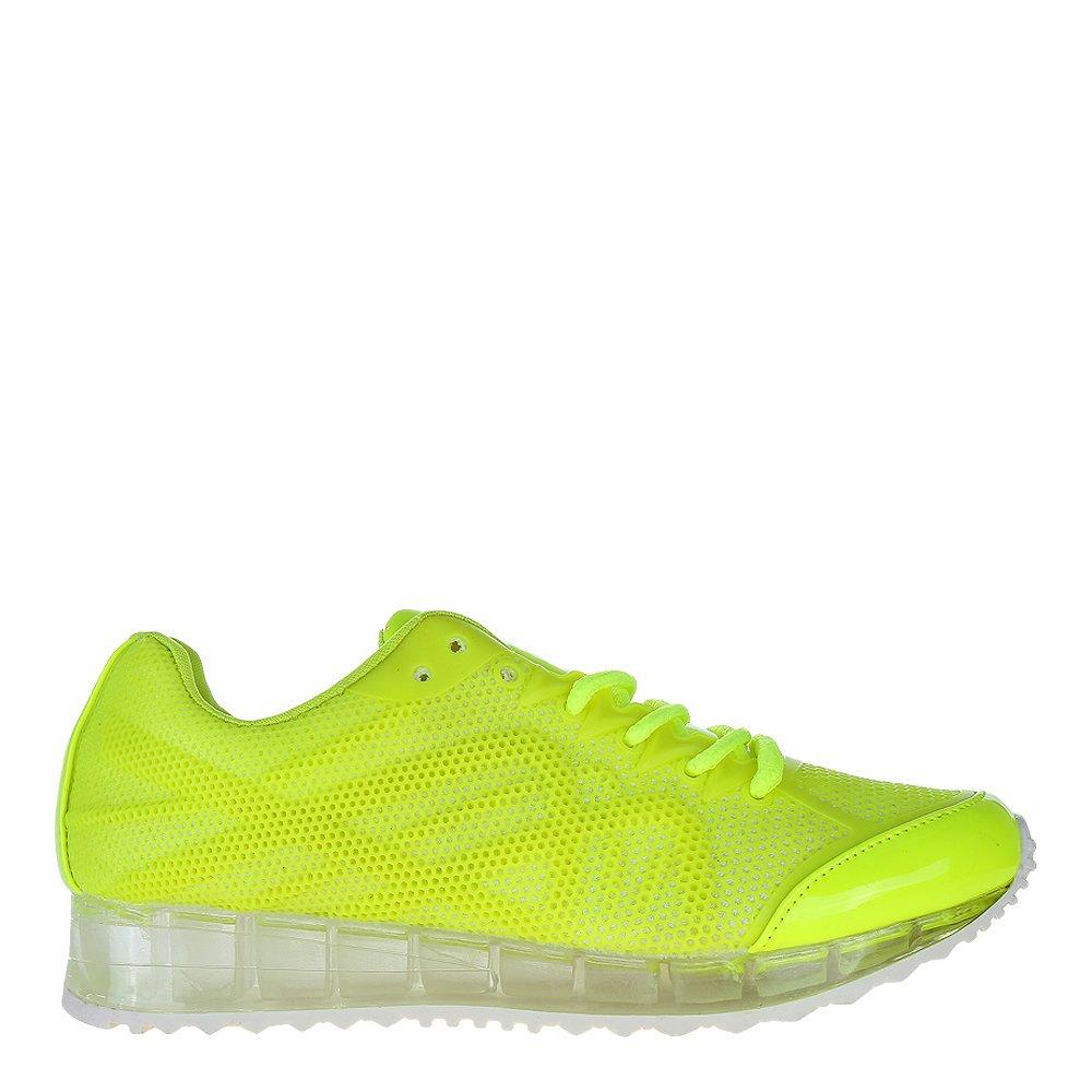 Pantofi sport dama Caleigh galbeni neon