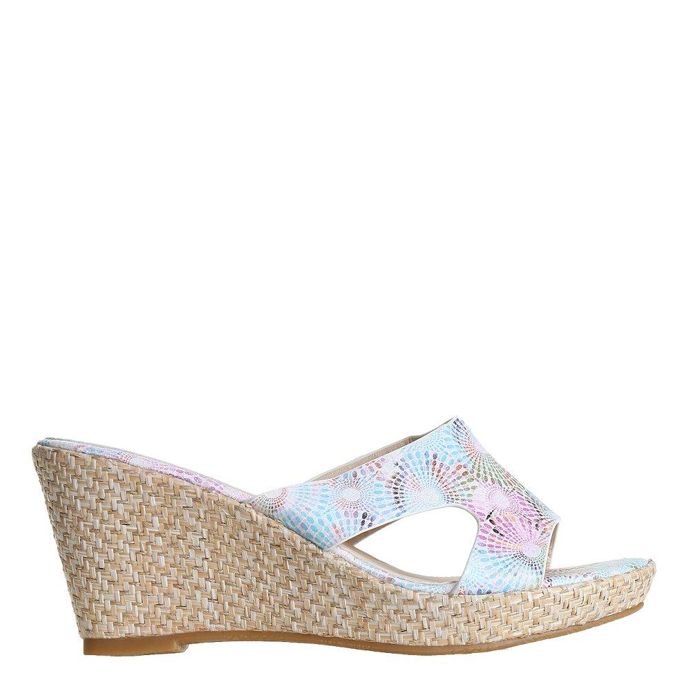 Papuci dama Laila albi