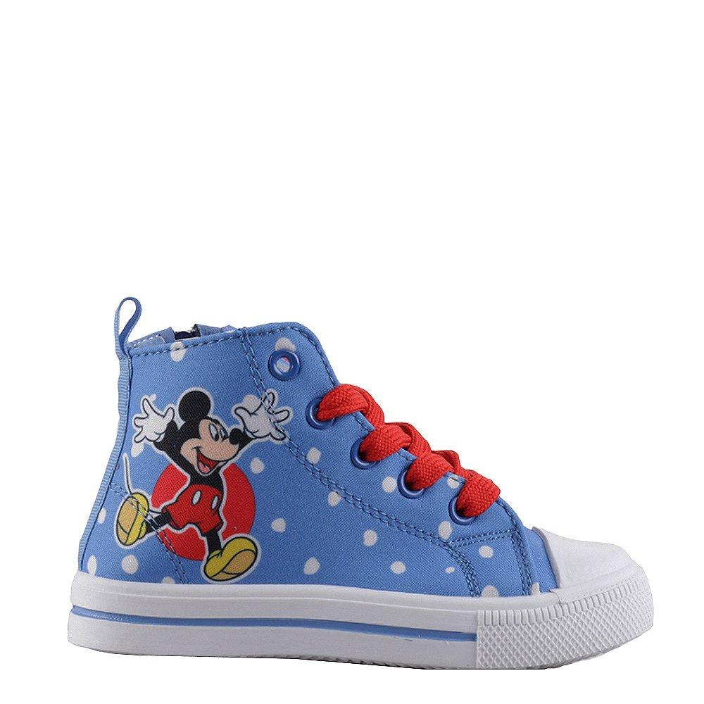 Tenisi copii Mickey Mouse albastri cu rosu